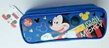 Disney Mickey Mouse Pencil Case Zippered Cosmetic Pouch Bag