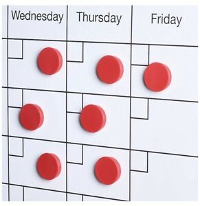 Scribble Red Round Magnet Whiteboard Set Of 20