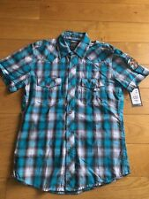 Mens H&M H M Fitted Colared Shirt XIII Aitutaki Surf Sod Size Small