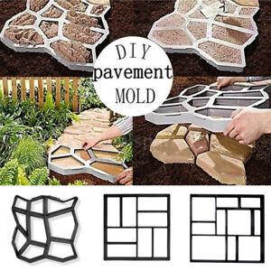 DIY Walkway Pavement Mold Reusable Path Maker Cement Concrete Molds Stepping