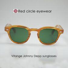 49mm Vintage sunglasses mens Johnny Depp eyeglass BLONDE round G15 glass lenses