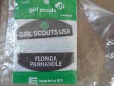 Girl Scout USA Florida Panhandle iron-on Patch, One individual pkg NEW