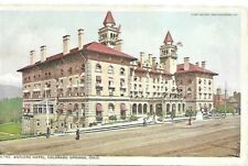 Antlers Hotel Colorado Springs Early 1900s Detroit Publishing Phostint Postcard