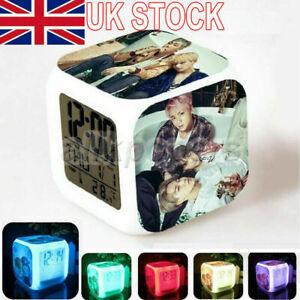 KPOP BTS Bangtan Boys Alarm Clock YOU JIMIN Color Changing Night Light Gift