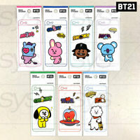 BTS BT21 Official Authentic Goods Mobile Deco Sticker Ver2 7Characters