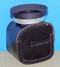 + Vintage Canon W-60-B Lens Hood Metal Shade Black/Chrome w/ Case Free Shipping