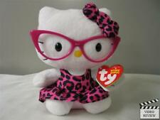 Hello Kitty fashionista (pink leopard and eyewear) Beanie Baby; Ty, New with tag