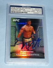 Forrest Griffin Signed UFC 2009 Topps Greats of the Game Card PSA/DNA COA Auto'd