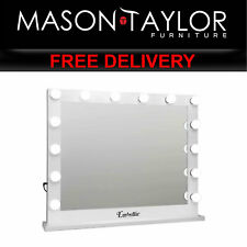 MT Make Up Mirror with LED Lights - White MM-FRAME-6580-WH AU