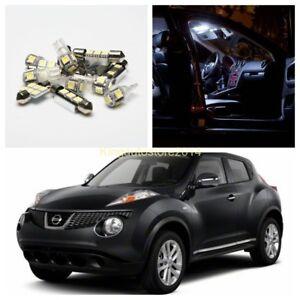 2011-2013 Nissan Juke LED Interior Light Kit White Map Trunk License Bulbs 6pcs