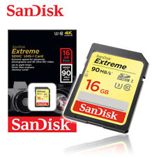 SanDisk 16GB Extreme Class10 UHS-I U3 SD card 90MBs Full SD HC Memory card