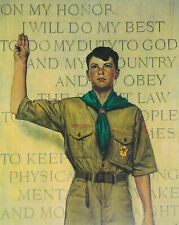 I Will Do My Best Boy Scouts Norman Rockwell 8 x 10 Art Print