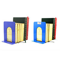 """2X 6.7"""" L-Shaped Bookend Anti-skid Solid Metal Shelf Book Holder Home Offi NTAT"""