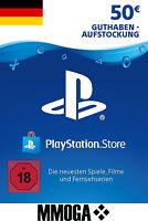 PSN 50 EURO PlayStation Network Code Card - €50 PS4 PS3 PS Vita Guthaben - DE