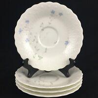Set of 4 VTG Saucer Plates by Mikasa Bone China April Rose A7053 Narumi Japan