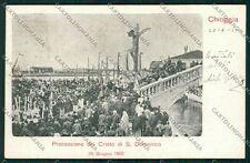 Venezia Chioggia Processione cartolina QK2893