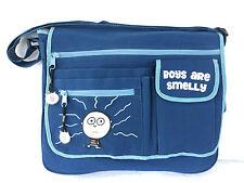 BOYS are SMELLY David & Goliath BLUE messenger/laptop/diaper BAG