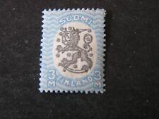 Finland, Scott # 106, 3m. Value Blue & Black 1921 Republic Coat Of Arms Iss Mvlh