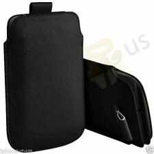 Small Premium PU Leather Pull Tab Case Pouch For Alcatel OT-800 One Touch Tribe