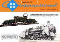 Roco Modelleisenbahnen Prospekt 1978 News Modellbahn brochure model railway 1:87
