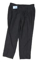 Preworn Mens Striped Black Trousers Size W38/L31
