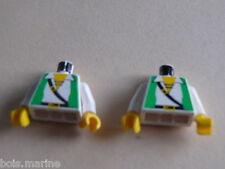 Lego 2 torses set 6250 6249 6296 6281 /2 white torso from minifig