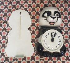 Adorable Kit Cat Panda Bear Clock B-1 Allied Mfg Co - Seattle, WA Works