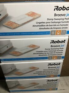 New iRobot Braava jet Damp Sweeping Cleaning Pads Lot of 4 Boxes 40 Pads Total