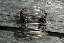 Vintage Copper, silver plated & brass bracelet ethnic bangle boho hippy