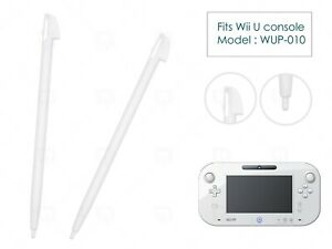 2 x White Replacement Stylus Pen Parts for Nintendo Wii U Console WUP-015