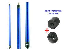 Viper Elite PP-06 Unwrapped Cobalt Pool Cue Stick 18-21 oz & Joint Protectors