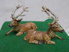 🎄🎄 Vintage Decorative Metal German Deer ~ One Facing Right ~ One Left #3 🎄🎄