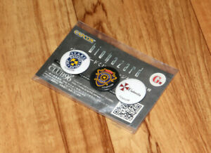 Resident Evil BIOHAZARD HD Remaster Japan Promo Limited Pin / Badge Set