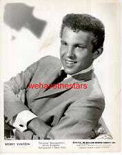 VINTAGE Bobby Vinton 50s POP SINGER Publicity Portrait