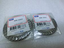 Lot of 2 SKF AXK 4060 Thrust Needle Roller Bearing 40x60x3mm,unused(4069)
