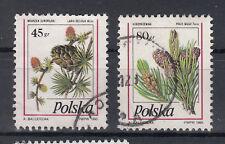Polen Briefmarken 1995 Nadelbaumzapfen Mi.Nr.3530+31 gestempelt