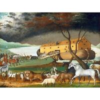 PAINTING ALLEGORY HICKS NOAH'S ARK POSTER ART PRINT BB12096B