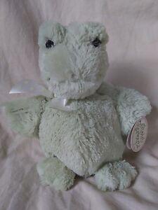 Bearington Baby Tad Green Frog Plush Animal Stout Sprouts Polka Dot Bow 197228