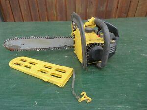 "Vintage McCULLOCH MAC 140 Chainsaw Chain Saw with 14"" Bar"