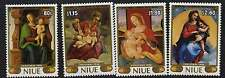 Niue 530-5 MNH Christmas, Art, Paintings, Madonna