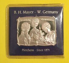 FIRST HOLY COMMUNION B. H. Mayer 9999 SILVER ART BAR 1 TROY OZ BHM-35 Original