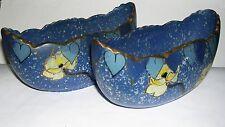 ART Pottery-Coppia dipinti a mano Barca a forma di vasi-NUMERATO alla base.