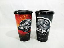 2Pcs Jurassic World Movie Theater  Plastic Cup Set Cinema From Thailand