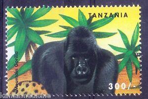 Mountain Gorilla, Wild Animals, Tanzania 1999 MNH
