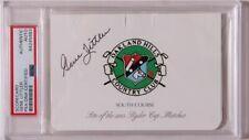 Gene Littler  Hand Signed Oakland Hills Scorecard  US Open  PSA