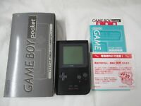 L884 Nintendo Gameboy Pocket Console Black Japan GB w/box manual
