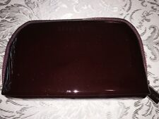 BOBBI BROWN BURGUNDY PATENT LEATHER COSMETIC BAG NWOB