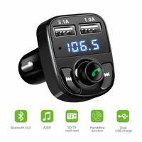ONEVER Kit voiture Bluetooth Transmetteur FM sans fil Chargeur voiture 2 USB