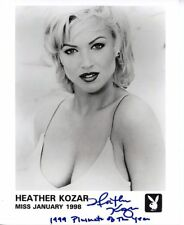 Heather Kozar 1999 Playmate of the Year  Signed 8x10 Autographed Playboy Promo
