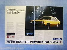 QUATTROR980-PUBBLICITA'/ADVERTISING-1980- DATSUN CHERRY -NISSAN -2 fogli
